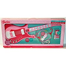 """Barbie """" Jam With Me """" Electronic Guitar (Pink) with Microphone & Top Hits Musical Cartridge"""