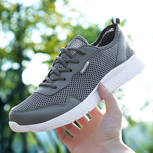 Lightweight Casual Shoes Mesh Walking Breathable CanLeg Outdoor Men's Darkgray Fashion F8vYxAEn