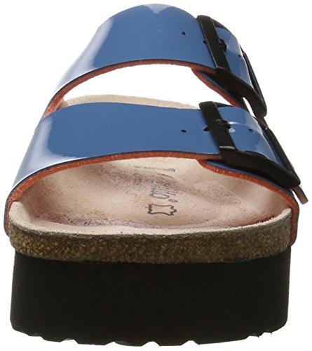 Papillio Damen Arizona Birko-Flor Pantoletten Blau (Two-Tone Petrol)
