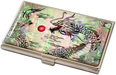 Red Dragon Metal Business Credit Card Case Holder