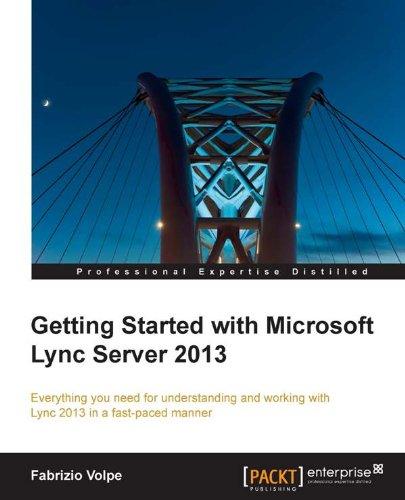 Getting Started with Microsoft Lync Server 2013 Pdf