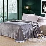 Soft Flannel Fleece Blanket, Grey, King Size, 210 * 200 cm