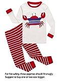 Crab Little Boys Long Sleeve Pajamas 100% Cotton Clothes Infant Size 18-24 Mothes
