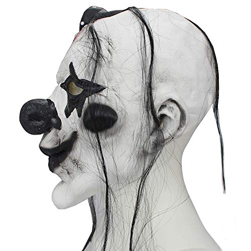 Evil Satanic Demon Scary Horror Halloween One Size Evil Scary Clown Mask by Halloween Paradise (Image #5)