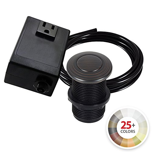 - Single Outlet Garbage Disposal Turn On/Off Sink Top Air Switch Kit in Venetian Bronze. Compatible with any Garbage Disposal Unit and Available in 25+ Finishes by NORTHSTAR DÉCOR. Model # AS010-VB