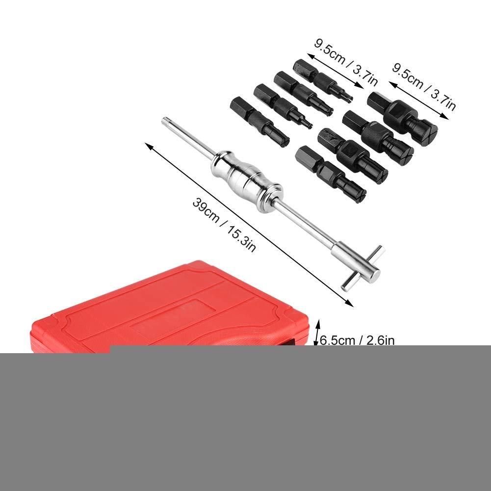 Juego de 9 Piezas Extractor de Cojinete Interno para Extraer Rodamientos Interiores Ciegos