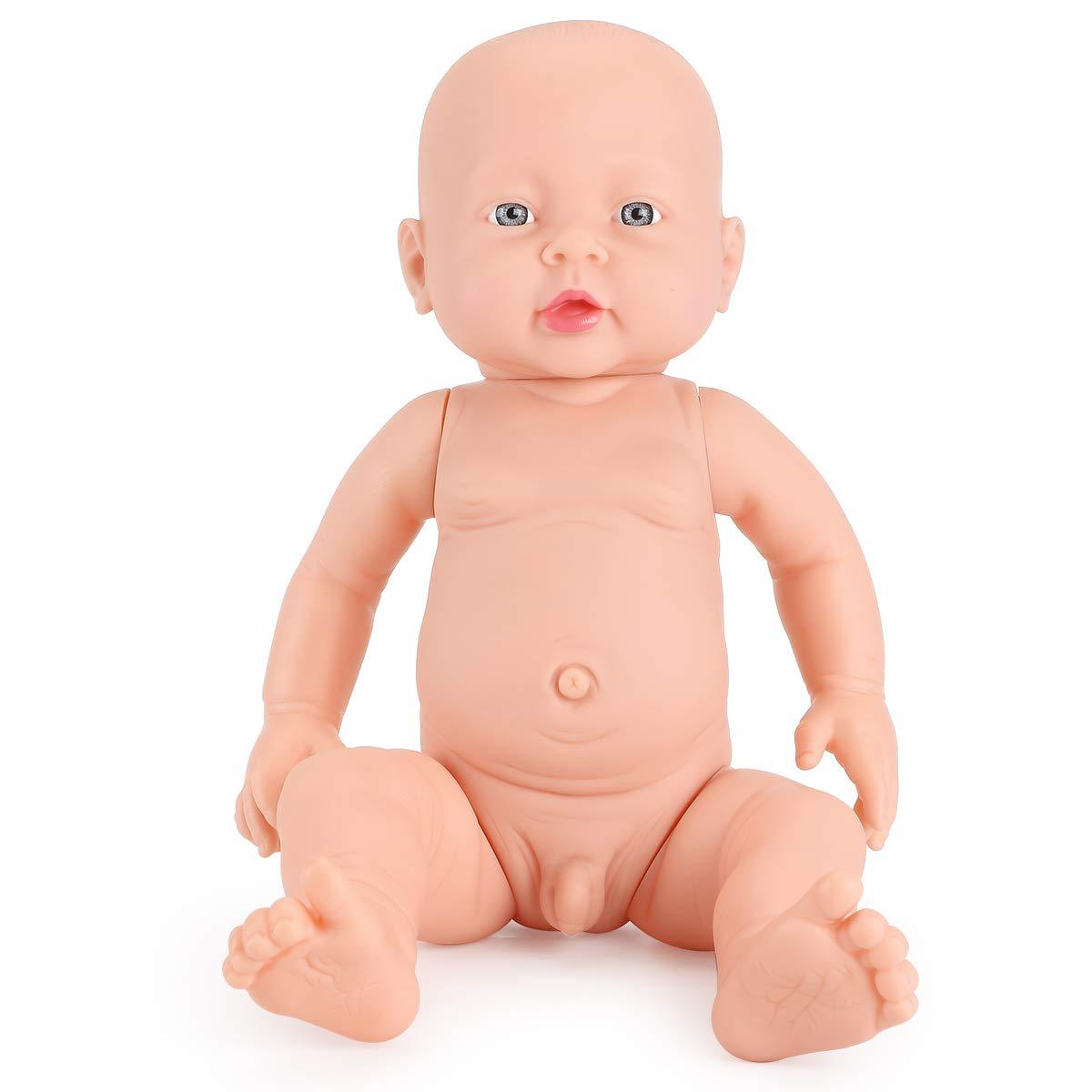 Eligara 16'' Soft Doll, Soft Naked Dolls, High Simulation Non -Toxic Latex Rotocast Miniature Realistic Full Body Doll