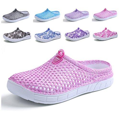 CN-Porter Unisex Womens Men's Breathable Mesh Sandals,Garden Clog Shoes,Beach Footwear,Anti-Slip,Water Shoes Pink