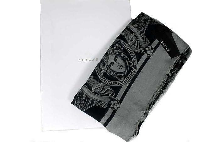 Versace - Echarpe - À Fleurs - Femme gris gris Taille unique  Amazon.fr   Vêtements et accessoires 60f9795ab73