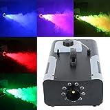 Tengchang 1500W Smoke Fog Machine RGB 8 LED DJ Party Stage Light Wire/Remote Controller
