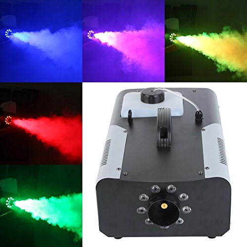Tengchang 1500W Smoke Fog Machine RGB 8 LED DJ Party Stage Light Wire/Remote Controller by Tengchang