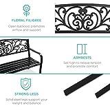 Best Choice Products 50in Steel Garden Bench