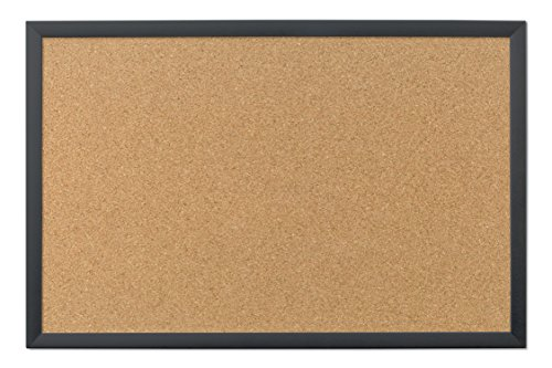 U Brands Cork Bulletin Board, 35 x 23 Inches, Black Wood ()