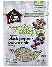 Club House, Quality Natural Herbs & Spices, Organic Ground Black Pepper, 28g