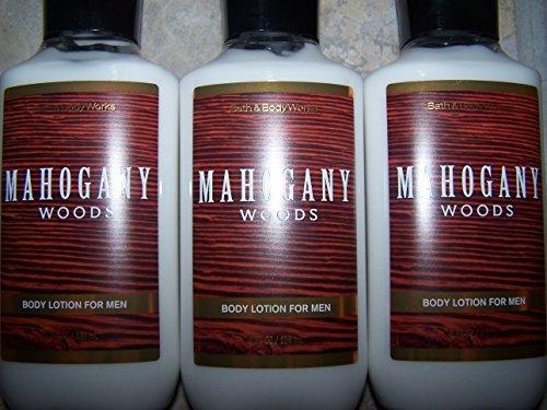 Lot of 3 Bath & Body Works Mahogany Woods For Men Body Lotion 8 fl oz each (Mahogany Woods)