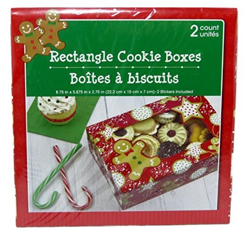 Christmas Baked Goods Gift Boxes 2 Ct Gingerbread Men