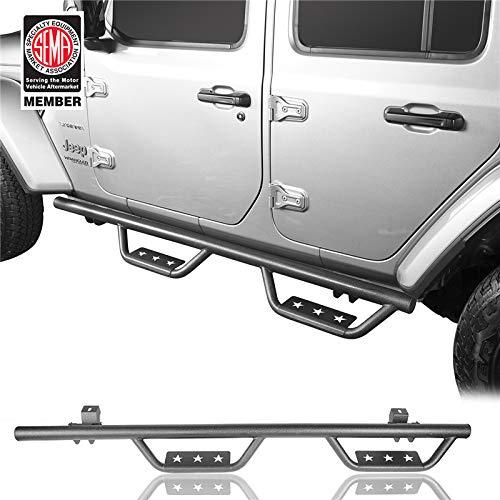 Jeep Wrangler JL 2018-2019 4-Door Running Board Nerf Side Step Bars ()