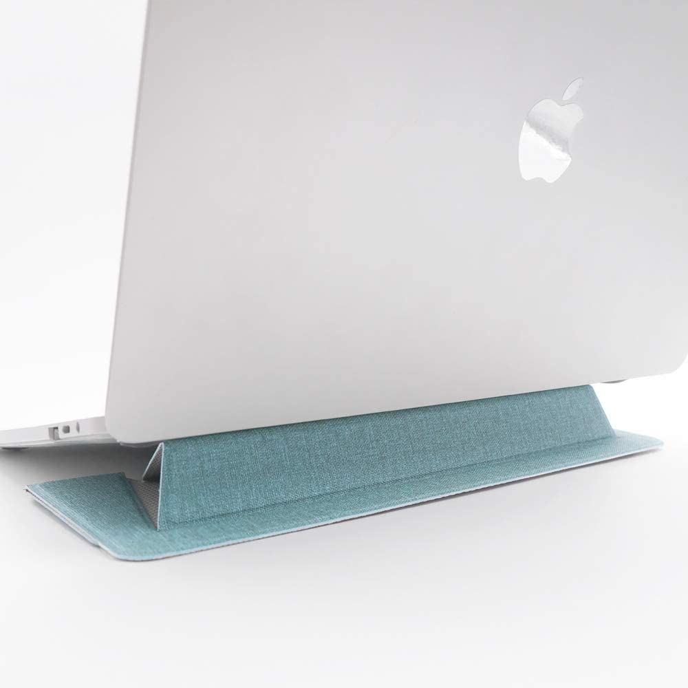 """SenseAGE Flat Foldable Laptop Stand, Invisible Lightweight Laptop Stand, Anti-Slide and Portable Notebook Stand, Compatible with MacBook Air/MacBook Pro, Tablets and Laptops up to 15.4"""", Light Green"""