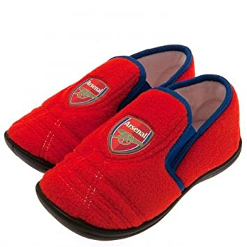 a3c9eecfb3c Arsenal F.C. Junior Slippers 1 2 Official Merchandise  Amazon.co.uk ...