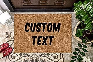 product image for Custom Doormat Personalized Coir Doormat Your Text Here Welcome Doormat Front Door Mat Funny Welcome Mat Funny Doormat Door Mat Gag Gift Cute Doormat Design Your Door Mat Outdoor/Indoor Mat