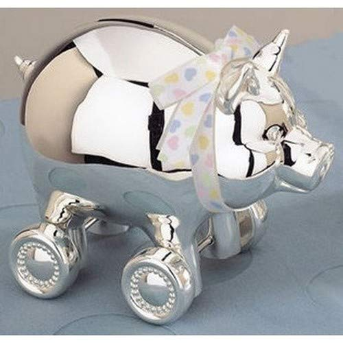 Reed & Barton Silver Plate Piggy Bank on Wheels by Reed & Barton (Image #1)
