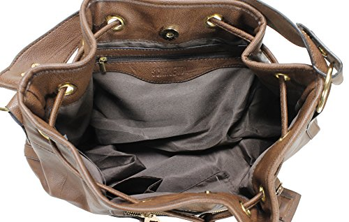 Scarleton Large Drawstring Handbag H107821 - Coffee