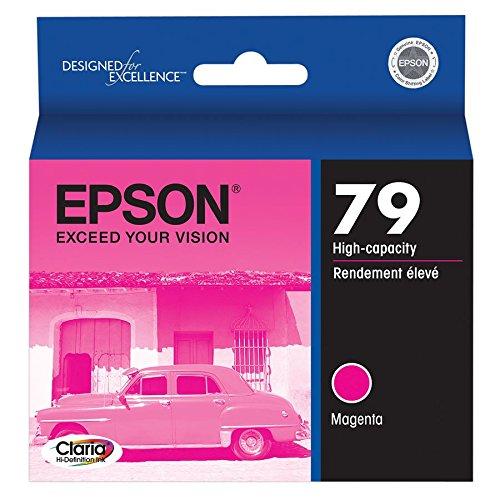 - Epson Claria Hi-Definition 79 High-capacity Inkjet Cartridge Magenta T079320