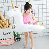 Inflatable Unicorn Pool Float, Suitable for 1-6 Years Baby Floating Swim Ring with Inflatable Swimming Neck Safety Ring