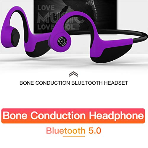 KUNAW_Headset KUANW Z8S Bluetooth 4.2 Wireless Headphones Bone Conduction Earphone Powerful Bass Driven Sound Ergonomic Design with Remote Control for iPhone, iPad, iPod,Android