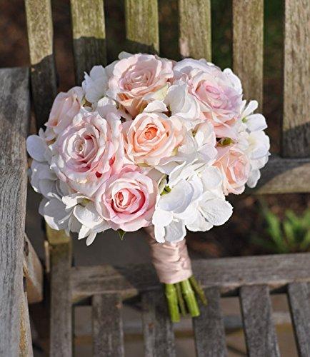 Wedding Flowers Bouquet Keepsake Bridal Blush Pink And Ivory Hydrangea