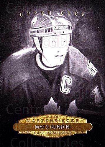 - (CI) Mats Sundin Hockey Card 2014-15 UD Masterpieces 155 Mats Sundin