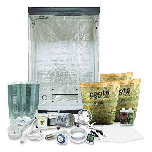 "51OEYmz7eKL - Complete 2 x 4 (29""x53""x79"") Grow Tent Package With 400-Watt HPS + Organic Soil & Nutrients"