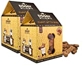 Wet Noses Doggy Delirious All Natural Dog Treats, Made in USA, 100% USDA Certified Organic, Non-GMO Project Verified, 14 Oz Box, Peanut-Butter Flavor, 2-Pack Review