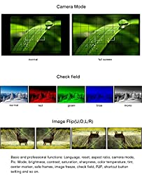 Feelworld FW759P 7 Inch IPS HDMI On-Camera Field Monitor Features Histogram False-color Zebra-Marking Peaking Focus Assist w/ 2200mAh Battery for BMPCC 5D2 5D3 7D 60D 550D D7000 D800 D90 A7S FS7 GH4