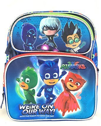 Nickelodeon PJ Masks Kids 12 inch Toddler School Backpack Canvas Book Bag New ()