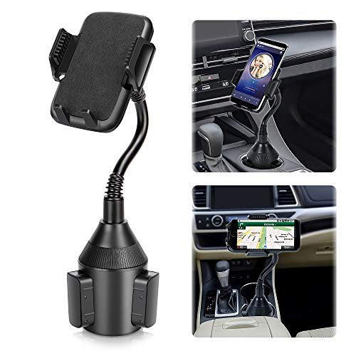 Car Phone Mount,Universal Smart Phone Adjustable Automobile Cup Holder Phones Mount for iPhone Xs/Max/X/XR/8 Plus /7 6 Samsung Galaxy S10/S9/ S8 Note 9 Nexus Sony、HTC、Huawei and All Smartphones from LEPSO