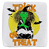18 Inch 6-Sided Cube Ottoman Halloween Trick or Treat Witch