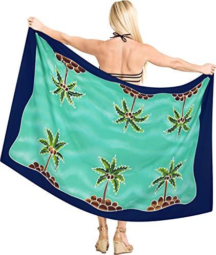 LA LEELA Frauen Beachwear Schwimmen Plus Größe Bikini Wickelrock Kleidsarong Badeanzug Pareo verschleiern