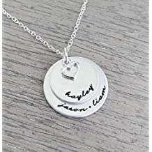 Personalized Necklace // Hand Stamped Jewelry // Necklace with Kids Names // Family Necklace // Hand Stamped Necklace