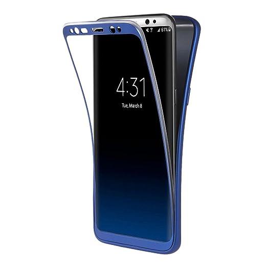 45 opinioni per Custodia Galaxy S8 Blu , ivencase Cover Galaxy S8 Silicone Ultra Sottile Front