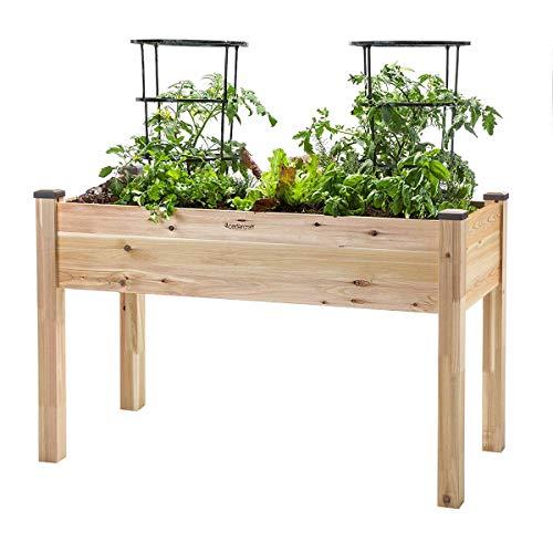 "CedarCraft Elevated Cedar Planter (22"" x 48"" x 30"