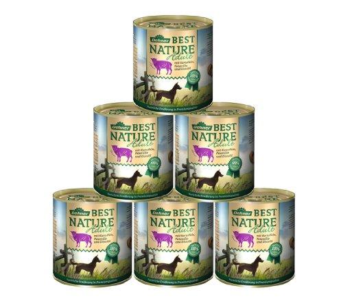 Dehner Best Nature Hundefutter, Adult Lamm und Kartoffeln mit Petersilie, 6 x 800 g (4.8 kg)