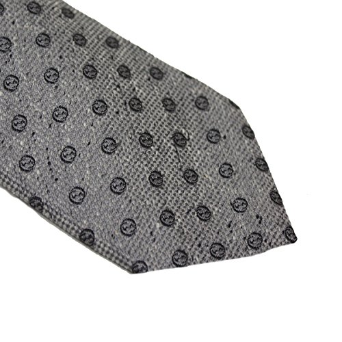Gucci Woven Silk Men's Necktie 351799, Grey by Gucci