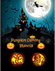 Pumpkin Carving Stencils: Halloween Patterns | Templates for Carving Funny and Spooky Faces | For All Ages and Skills | For kids and adults | Easy to Difficult Halloween Crafts | 55 Unique Fun Designs