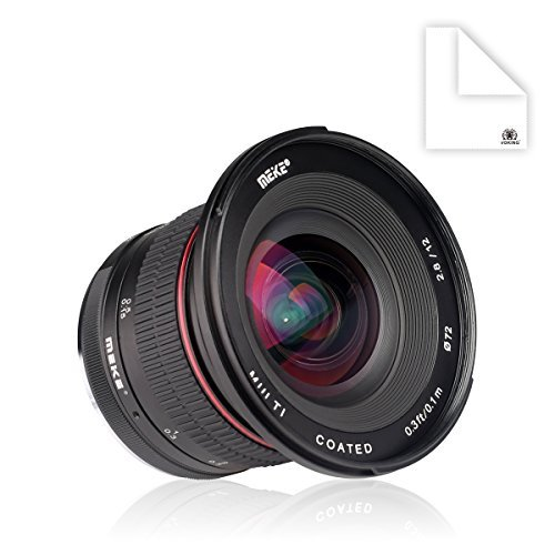 Meike 12mm f/2 8 Ultra Wide Angle Fixed Lens with Removeable Hood for Fujifilm Mirrorless Camera with APS-C