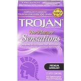 Trojan Her Pleasure Sensations Lubricated Condoms - 12 Count