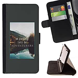 Momo Phone Case / Flip Funda de Cuero Case Cover - Aventura de vacaciones de Alaska Lago Naturaleza - Sony Xperia Z3 Compact