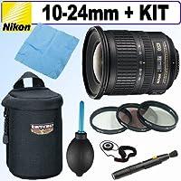 Nikon 10-24mm f/3.5-4.5G ED AF-S DX Nikkor Wide-Angle Zoom Lens + Deluxe Accessory Kit