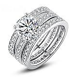Baqijian Luxury Brand Color Bridal Set Ring Women Paved Micro Zircon Wedding Jewelry Yir031
