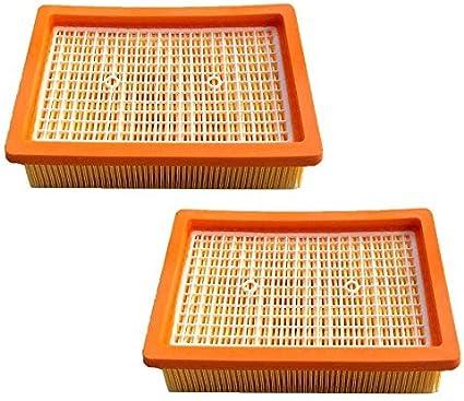 2 filtros HEPA para aspiradora Kärcher MV4 MV5 MV6 WD4 WD5 WD6, filtro plano para aspiradora sustituye a 2.863-005.0/28630050: Amazon.es: Bricolaje y herramientas